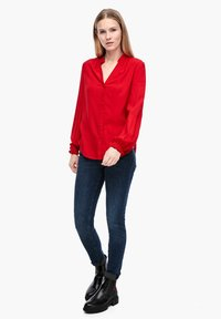Q/S designed by - Button-down blouse - crimson red - 1