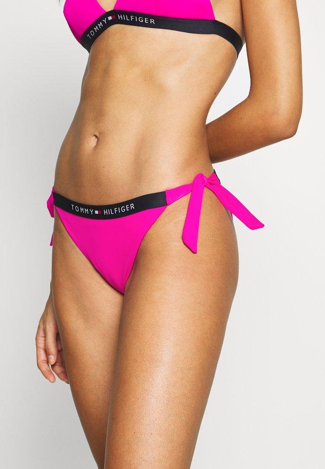CORE SOLID LOGO CHEEKY SIDE TIE - Braguita de bikini - pink glo