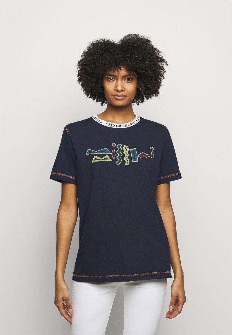 M Missoni - Print T-shirt - dark blue