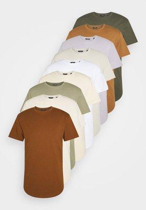 ONSMATT LIFE LONGY TEE 10 PACK - T-shirts - white/fog/silverlining/overlandtrek/raind/brasand/foxt/monks/olive