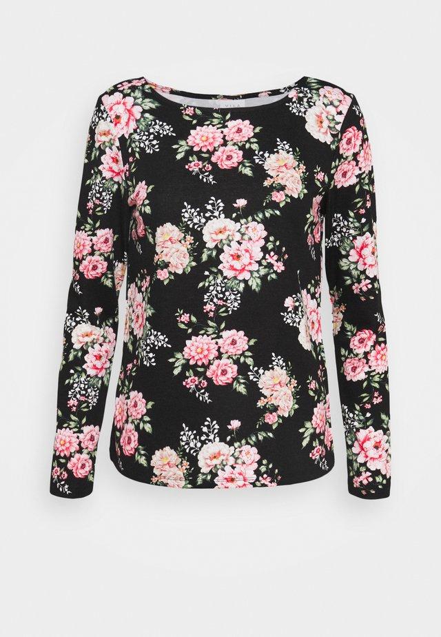 VIROSA - Pitkähihainen paita - black/pink
