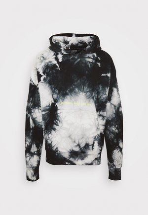 S-ALBYEL-X4 SWEAT-SHIRT UNISEX - Sweat à capuche - black/grey tye dyed