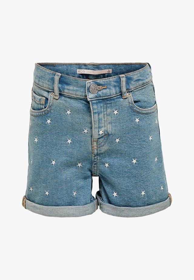 Jeansshort - medium blue denim