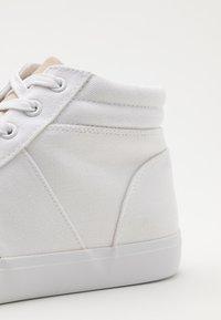 Pier One - UNISEX - Korkeavartiset tennarit - white - 5