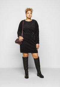Noisy May Curve - NMMICK SHORT DRESS CURVE - Day dress - black - 1