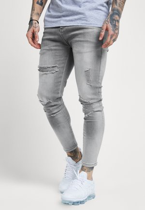 DISTRESSED SUPER  - Jeans Skinny Fit - washed grey