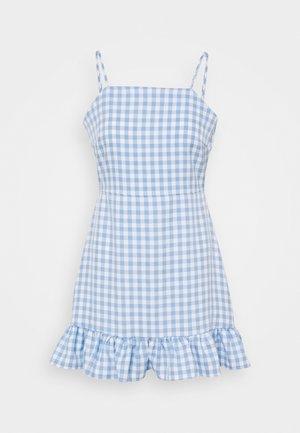 RUFFLE CAMI DRESS - Day dress - blue