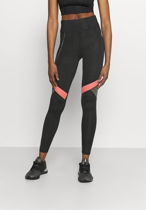 ONPJOKI TRAIN  - Leggings - black/tea rose