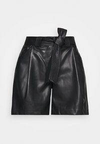 Miss Selfridge - TIE WAIST - Shorts - black - 4