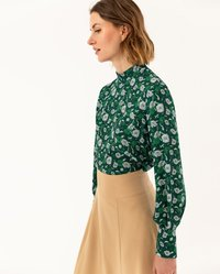 IVY & OAK - STAND UP COLLAR BLOUSE - Blouse - evergreen - 3