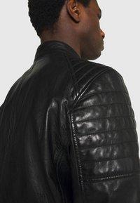 Strellson - DERRY - Kožená bunda - black - 3
