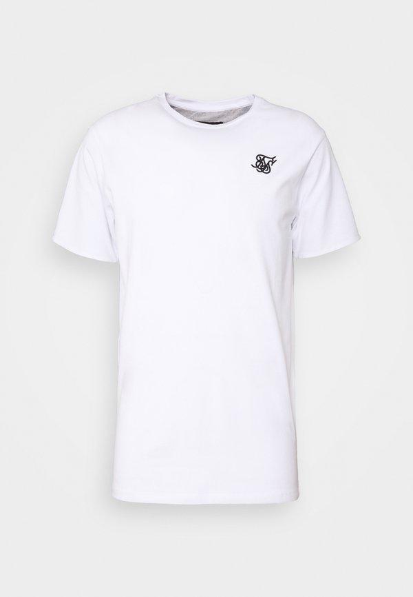 SIKSILK SPACE DYE ROLL SLEEVE TEE - T-shirt basic - white / grey/biały Odzież Męska ZKRY