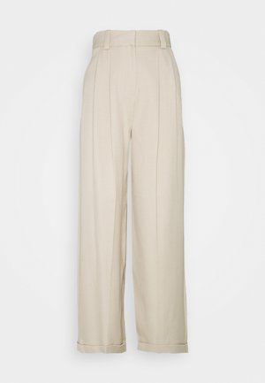 MARL ELASTIC BACK WIDE - Trousers - stone