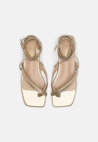 RAID - HAVEN - T-bar sandals - gold - 5