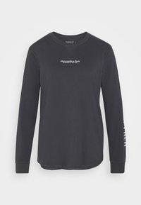 Abercrombie & Fitch - LOGO LONG SLEEVE - Long sleeved top - dark grey - 0
