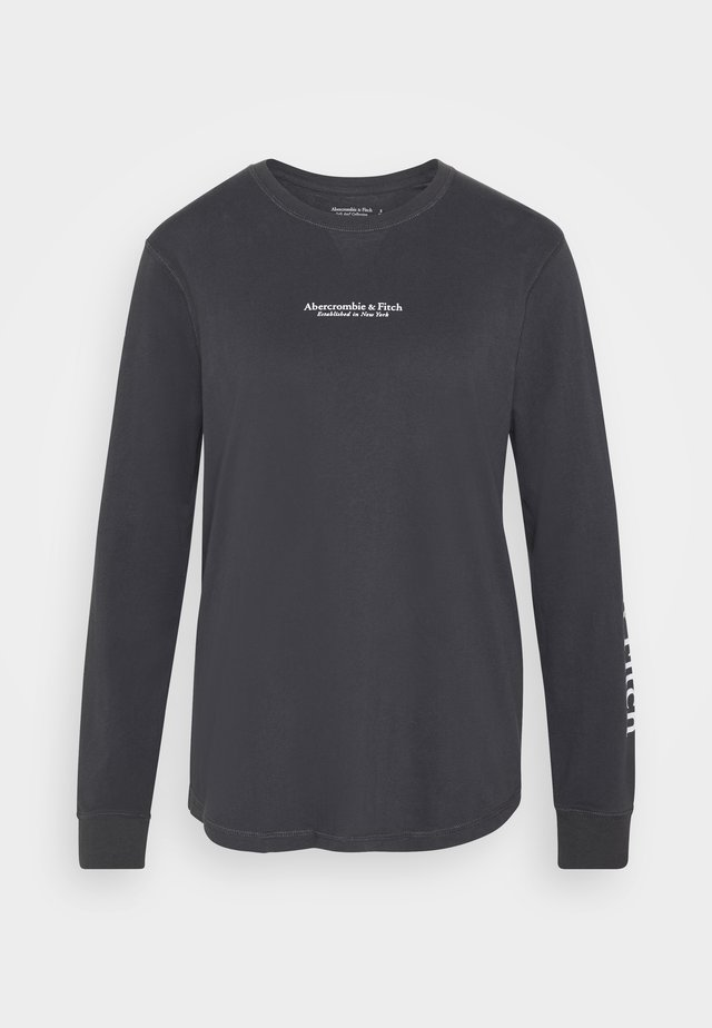 LOGO LONG SLEEVE - T-shirt à manches longues - dark grey
