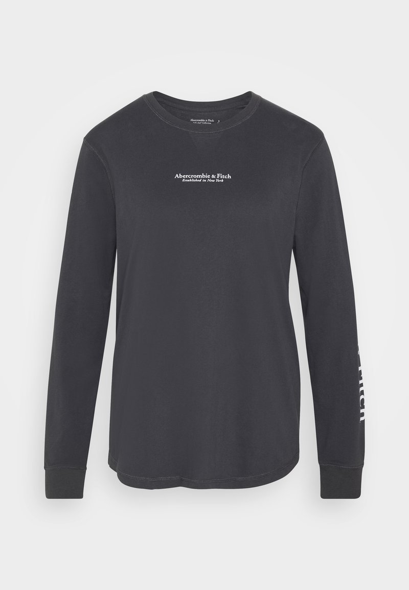 Abercrombie & Fitch - LOGO LONG SLEEVE - Long sleeved top - dark grey