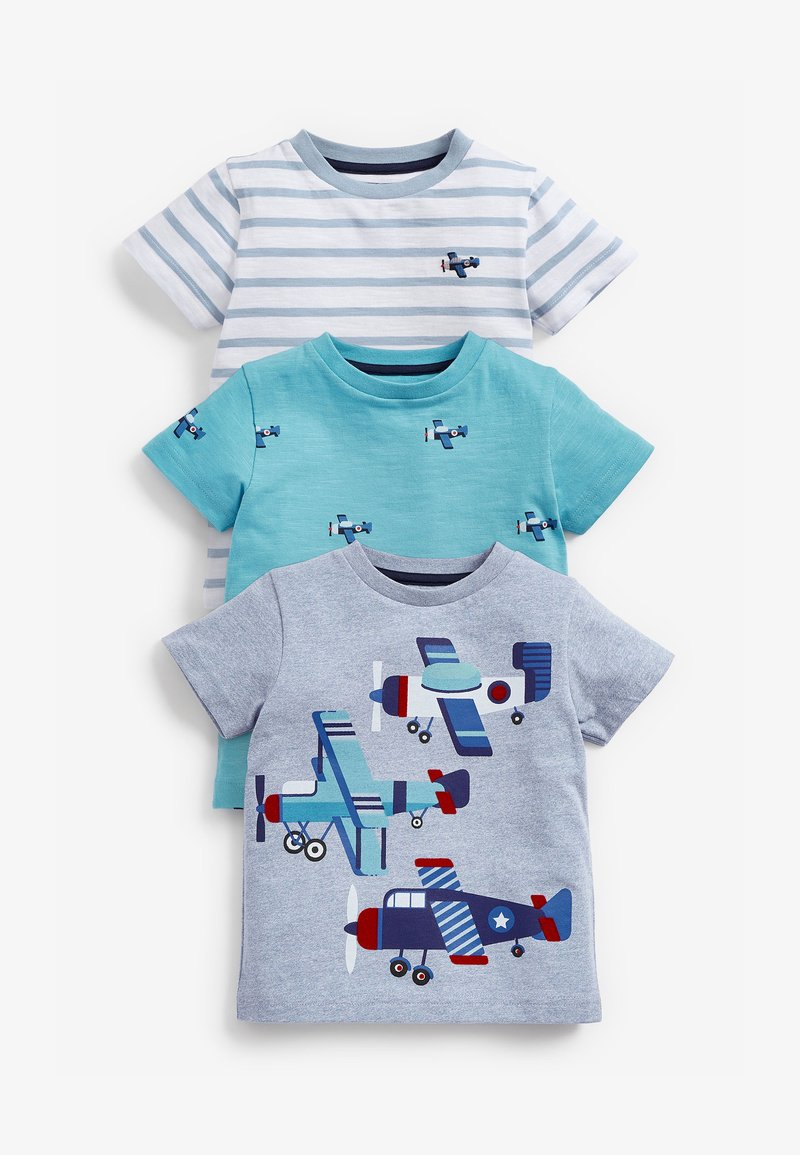 Next - 3 PACK  - T-shirt print - blue