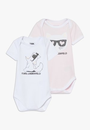 BABY 2 PACK - Body - white/pink