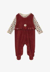 Jacky Baby - IN MY BACKYARD CHRISTMAS SET - Sleep suit - dunkelrot - 3