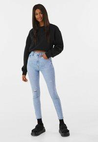 Bershka - SUPER HIGH WAIST - Jeans Skinny Fit - blue denim - 1