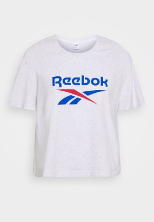BIG LOGO TEE - T-shirt z nadrukiem - white / melange