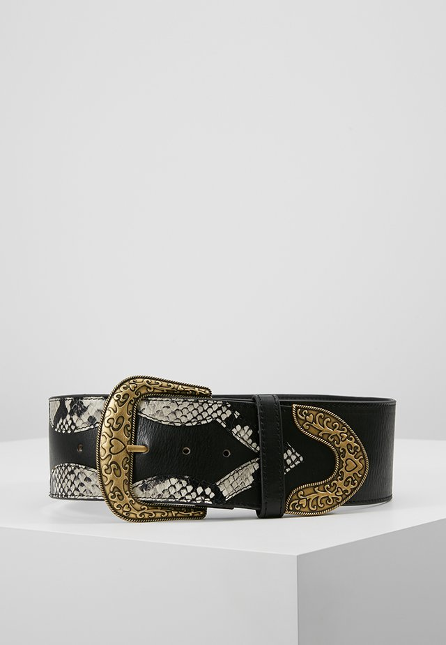 PATCHWORK BELT - Pasek - antracite