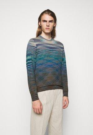LONG SLEEVE CREW NECK - Pullover - multi-coloured/mottled dark brown