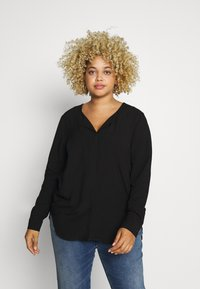 JUNAROSE - by VERO MODA - JRVERONICA SOLID SHIRT  - Blouse - black - 0