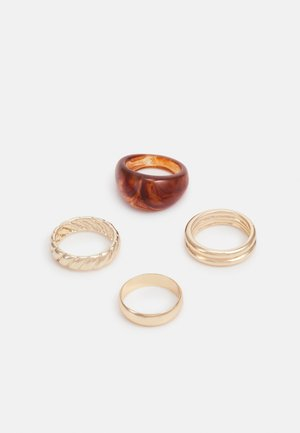 4 PACK - Ring - gold-coloured