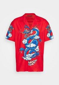 Mennace - SATEEN DRAGON REVERE SHIRT - Camisa - red - 3