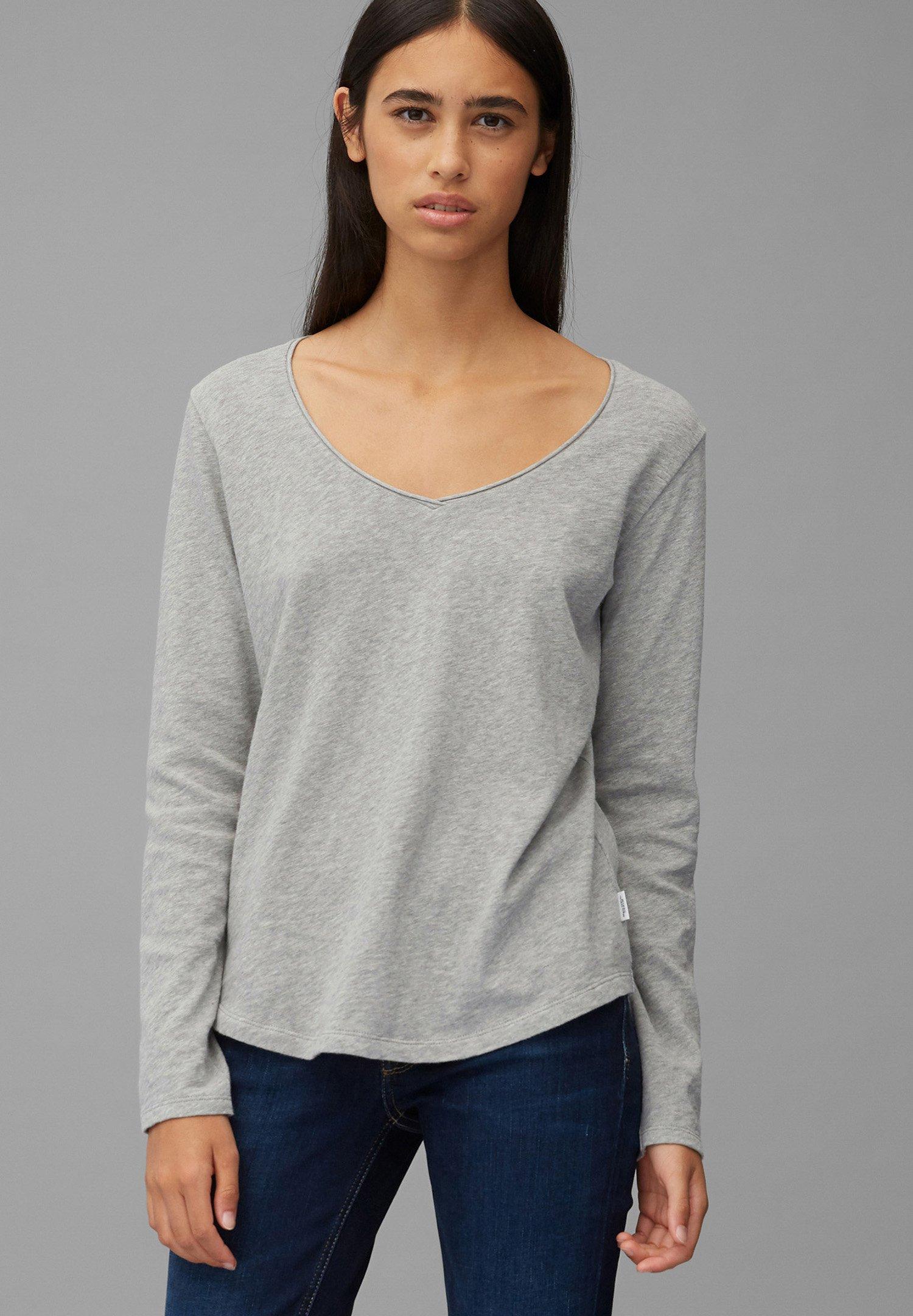 Damen LONGSLEEVE V-NECK - Langarmshirt
