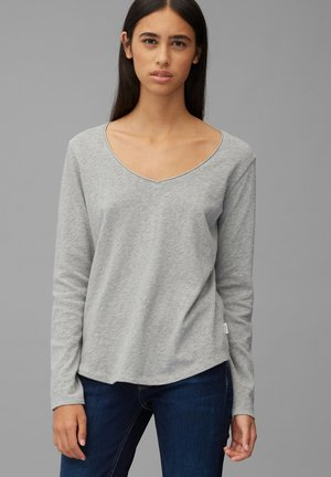 Long sleeved top - stone melange