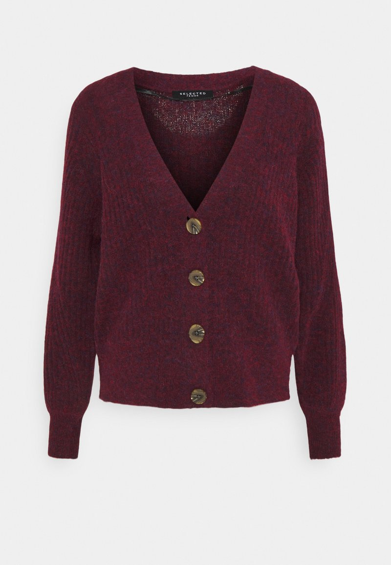 Selected Femme - SLFSIF CARDIGAN - Cardigan - winetasting