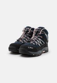 CMP - KIDS RIGEL MID SHOE WP UNISEX - Hiking shoes - asphalt/rose - 1
