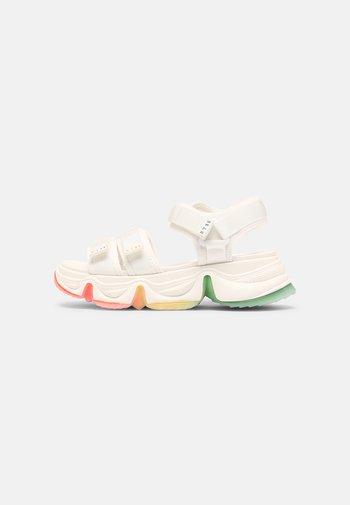 CHAKRA - Platform sandals - white multi
