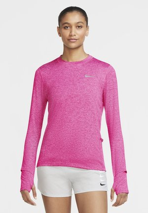 W NK ELEMENT  - Sports shirt - hyper pink/pink glow/heather