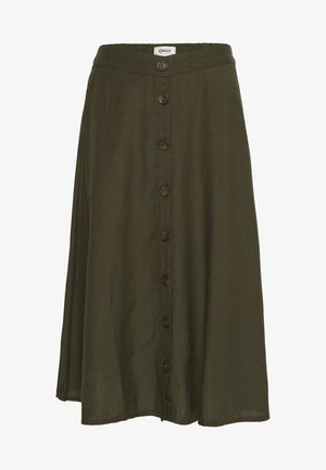 ONLVIVA LIFE NEW BUTTON SKIRT  - Gonna a campana - forest night