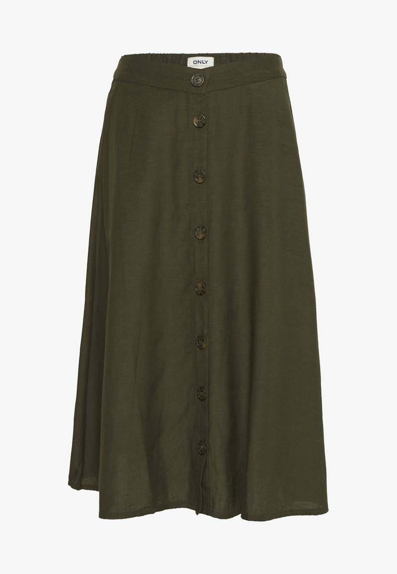 ONLY - ONLVIVA LIFE NEW BUTTON SKIRT  - A-Linien-Rock - forest night