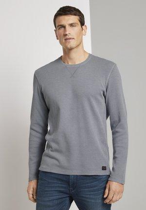MIT WAFFELSTRUKTUR - Long sleeved top - middle grey melange