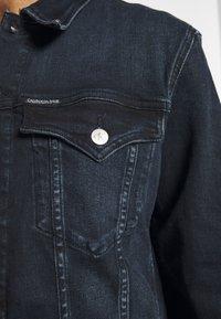 Calvin Klein Jeans - FOUNDATION DENIM JACKET - Kurtka jeansowa - blue black - 6