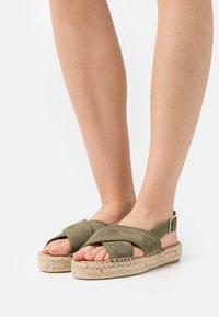 Zign - Platform sandals - khaki - 0
