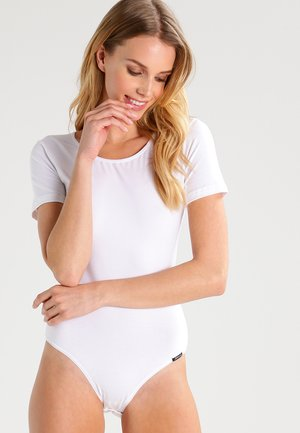 DAMEN BODY KURZARM - Body - white