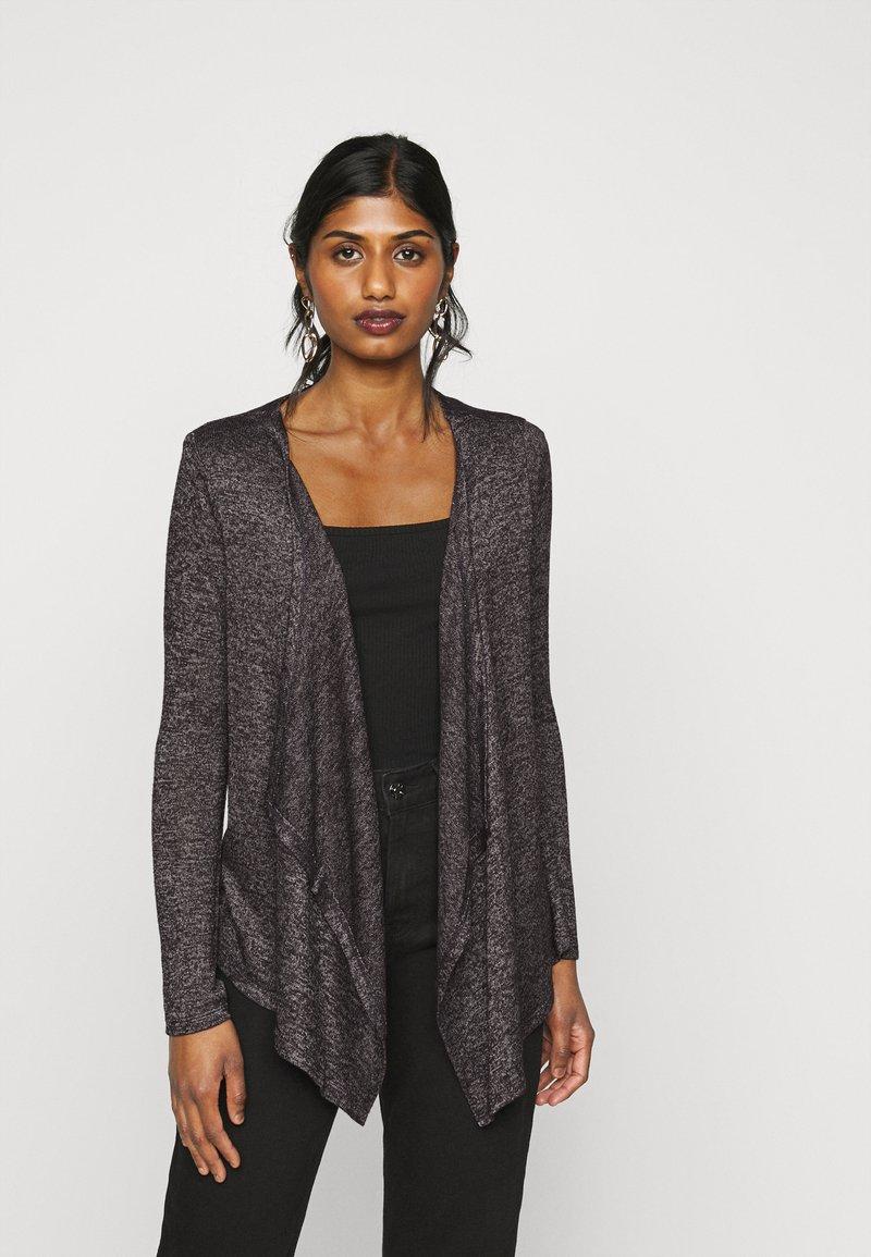 Vero Moda Petite - VMBRIANNA DRAPY - Cardigan - dark grey melange