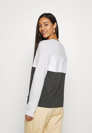 FASHION CREW - Sweatshirt - grey/white