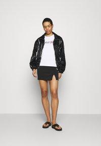 Zign - Mini princess seams skirt high waisted with slit - Pencil skirt - black - 1