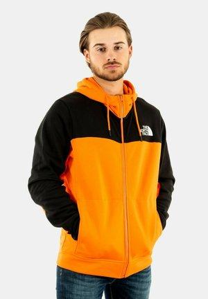 Sudadera con cremallera - orange/black