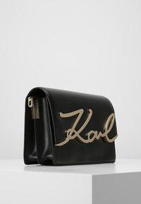 KARL LAGERFELD - SIGNATURE - Across body bag - black - 3