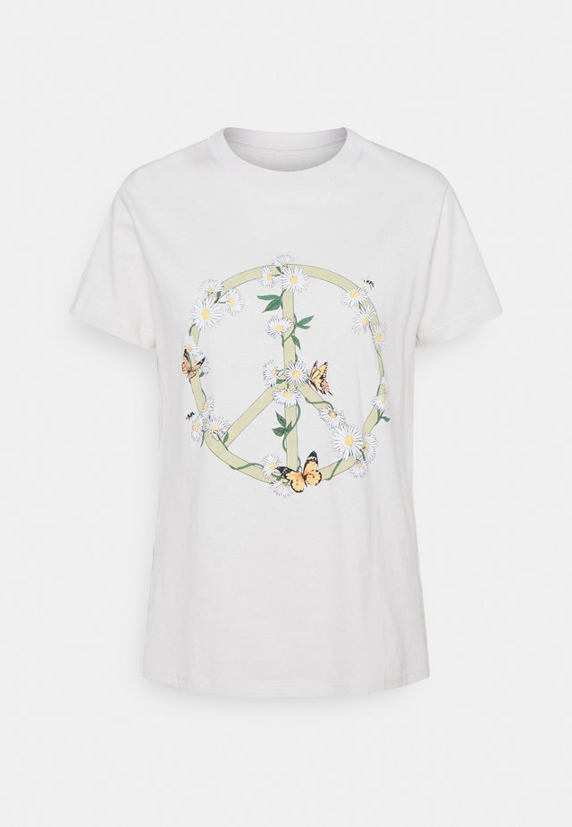 CLASSIC ARTS TEE - T-shirt con stampa - white sand