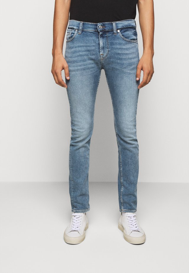 RONNIE - Slim fit jeans - mid blue